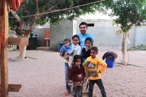مع أقارب حميد صديقي في دهب .. فبراير 2014